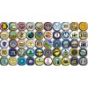 50 fridge magnets US states logo
