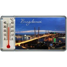 Magnet with thermometer acrylic - Vladivostok